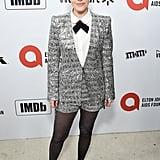 Emily Hampshire at the 2020 Elton John AIDS Foundation Academy Oscars Party