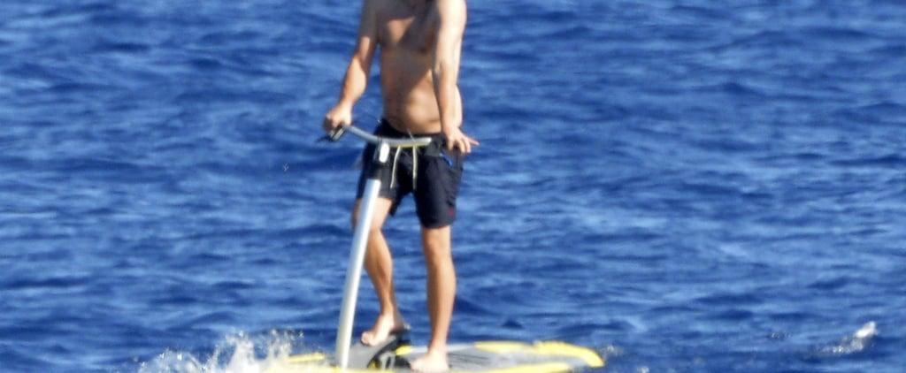 Leonardo DiCaprio Riding Sea Scooter in Italy Pictures 2019