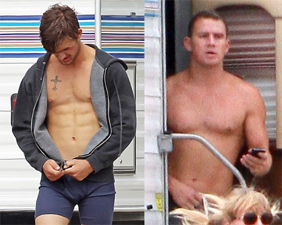 Channing Tatum and Alex Pettyfer Get Shirtless on the Set of Magic Mike