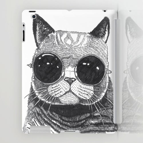 This is what we imagine Lil' Bub would look like . . . with sunglasses . . . on your iPad case ($60).