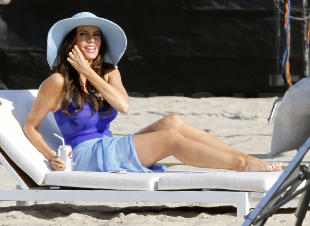 Pictures of Sofia Vergara in a Swimsuit With David Beckham