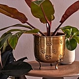 Val Footed Metal Planter
