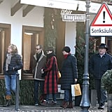 Anne Hathaway and Adam Shulman shopped in Gstaad.