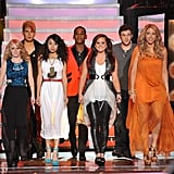 The final seven contestants took the stage together.