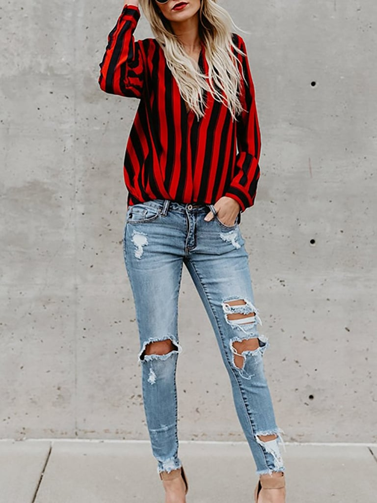 Ninimour Striped Blouse
