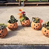 Small Handmade Craven Pottery Jack-O'-Lantern Planter Pot