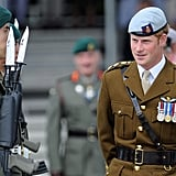Prince Harry was on hand for the opening of a new center at the Royal Marines Tamar naval base.