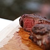 Serve steak at room temperature.