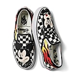 Disney x Vans Classic Slip-On in Mickey Mouse and Minnie Mouse/Checker Flame
