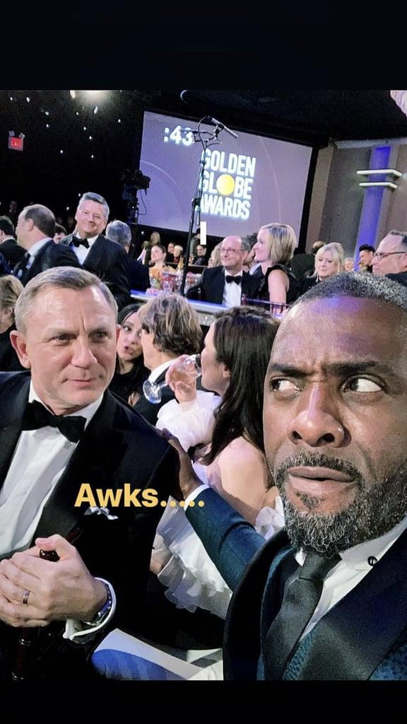 Idris Elba and Daniel Craig at the Golden Globes 2019