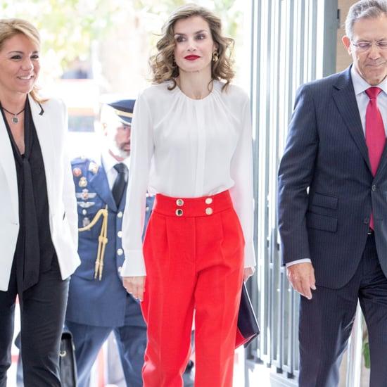 Queen Letizia's Red Pants October 2016