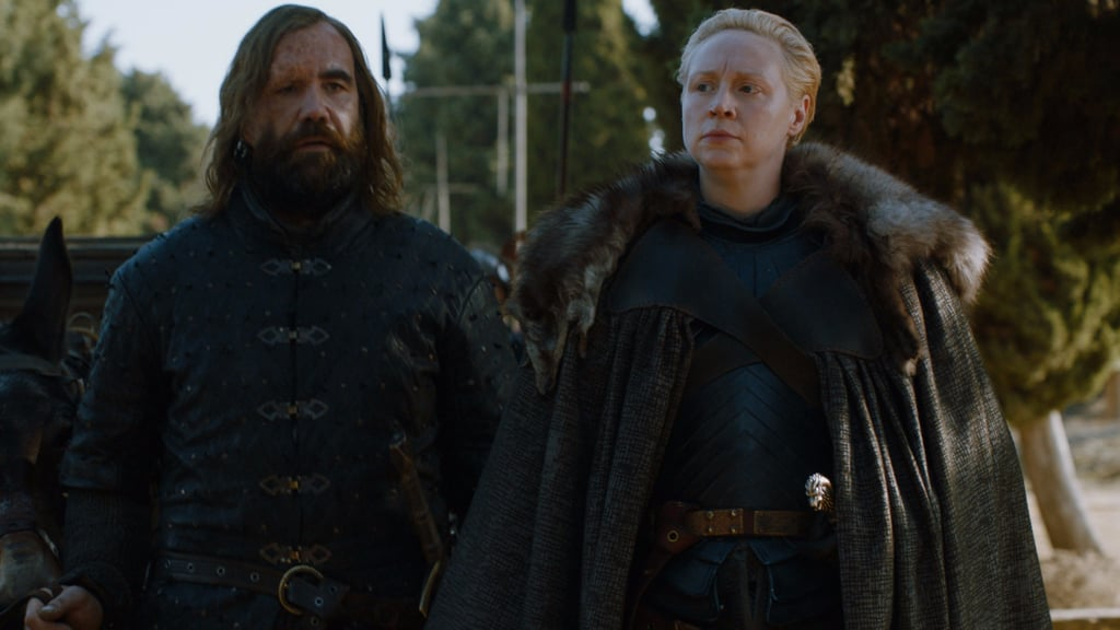 Brienne and The Hound Bonding on Game of Thrones Reactions
