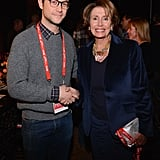 "Joseph Gordon-Levitt greeted Nancy Pelosi at the ""An Artist at the Dinner Table"" event at Sundance on Friday."