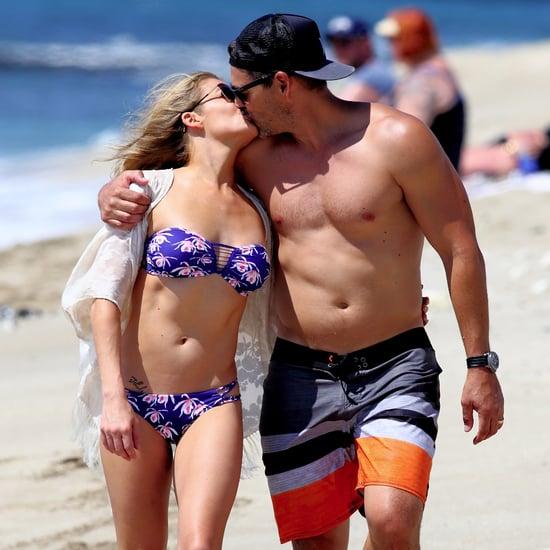 LeAnn Rimes and Eddie Cibrian Kissing on the Beach