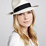 A little hesitant to try the hat trend? Test the waters with this classic ribbon-trimmed fedora by Hat Attack ($98).