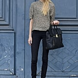 The model carryall of choice? Clearly, Phillip Lim's Pashli.