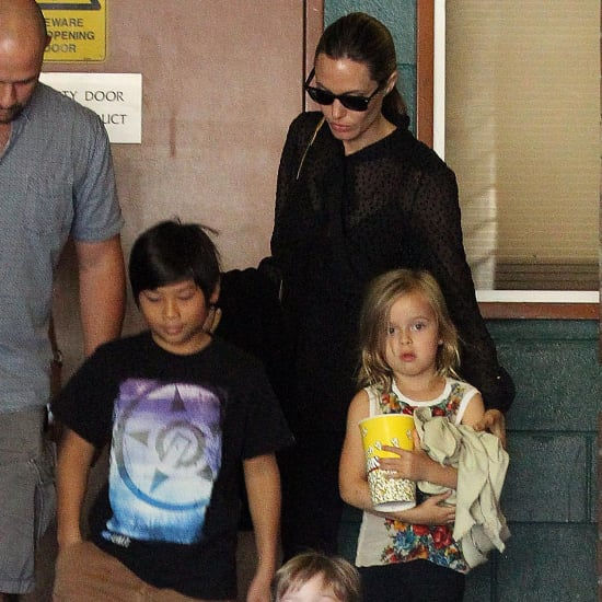 Angelina Jolie and Kids See The Lion King