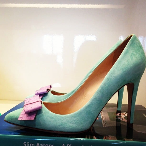 The J.Crew Spring preview showcased lady-like pumps with perfect bows.