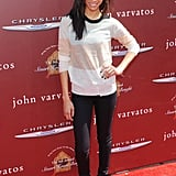Showing off her casual sense of style, Zoe stepped out in a semisheer striped A.L.C. sweater with black skinny jeans and black boots at the John Varvatos 9th annual Stuart House benefit earlier this year.