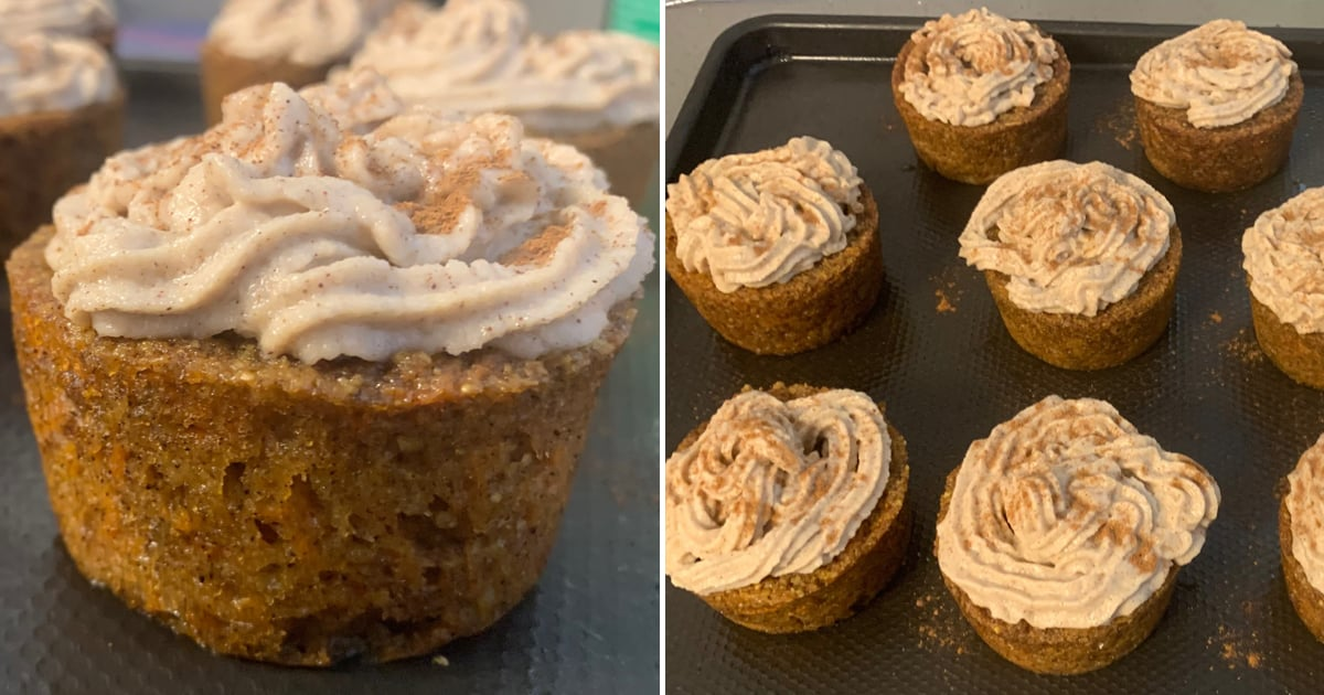 These Cozy Carrot Cake Cupcakes Are Topped With Cashew Frosting and a Dash of Cinnamon
