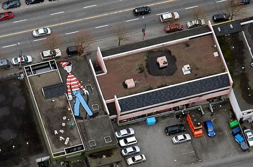 Find Waldo on Google Earth