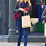 Erin Heatherton went shopping in NYC.
