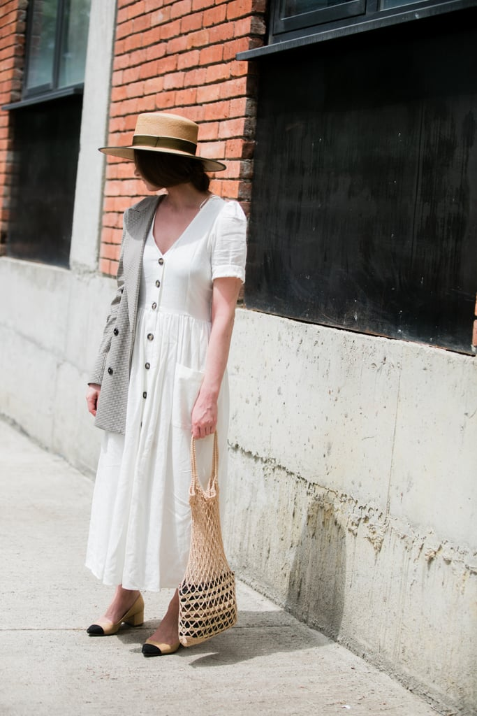 Add Summery Accessories Like a Net Bag and Boat Hat