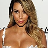 Kim Kardashian With Sandy Blond Hair