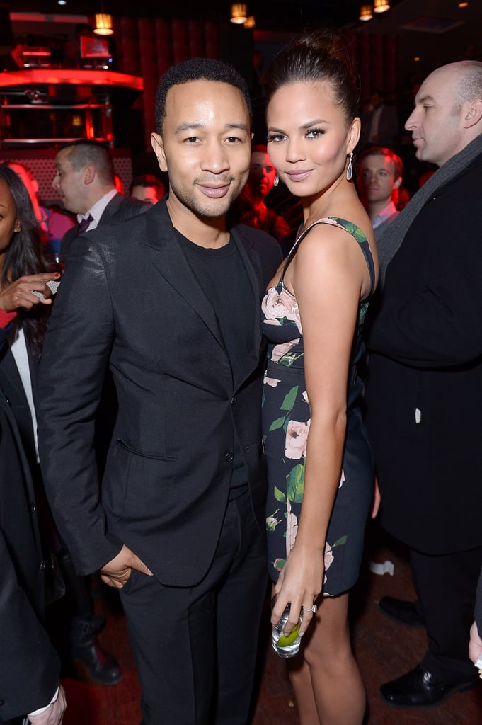 Chrissy Teigen was joined by boyfriend John Legend at the launch party.