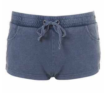 Topshop Denim Acid Jersey Hotpants