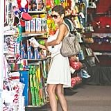 Halle Berry browsed for party supplies at Aahs!