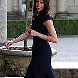 Meghan Markle Blue Roland Mouret Dress