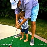 Brooks Stuber practiced his putting skills on the mini golf course. Source: Instagram user mollybsims