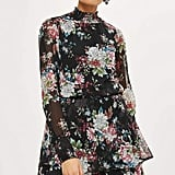 Topshop Y.A.S. Foral Long Sleeve Dress