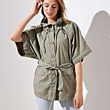 Loft Hooded Poncho Jacket