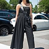 Tick all the boxes in a bandeau, wide leg, cropped black jumpsuit.