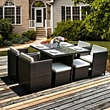Gillen 9 Piece Rattan Seating Group with Sunbrella Cushions