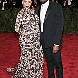 Kim Kardashian and Kanye West at the Met Gala in 2013