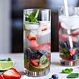 Coconut Blueberry Mojito With Strawberries
