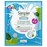 Simple Water Boost 5 Minute Rest Hydrogel Mask
