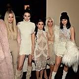 Khloé Kardashian, Kendall Jenner, Kourtney Kardashian, Kim Kardashian, and Kylie Jenner.