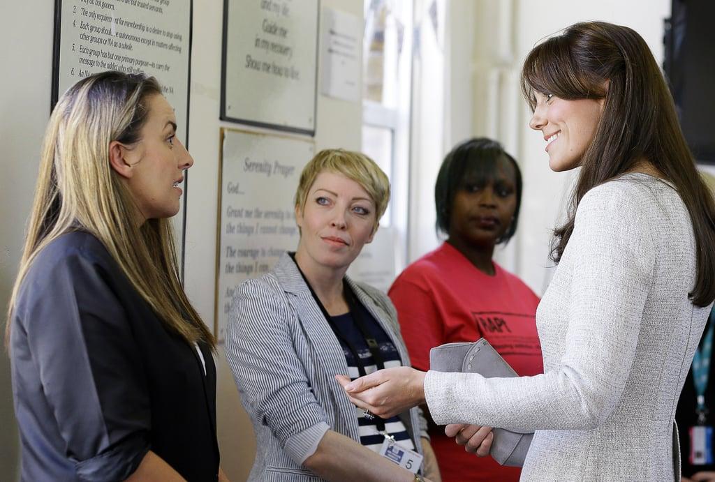 Kate Middleton Rehab Visit Pictures September 2015