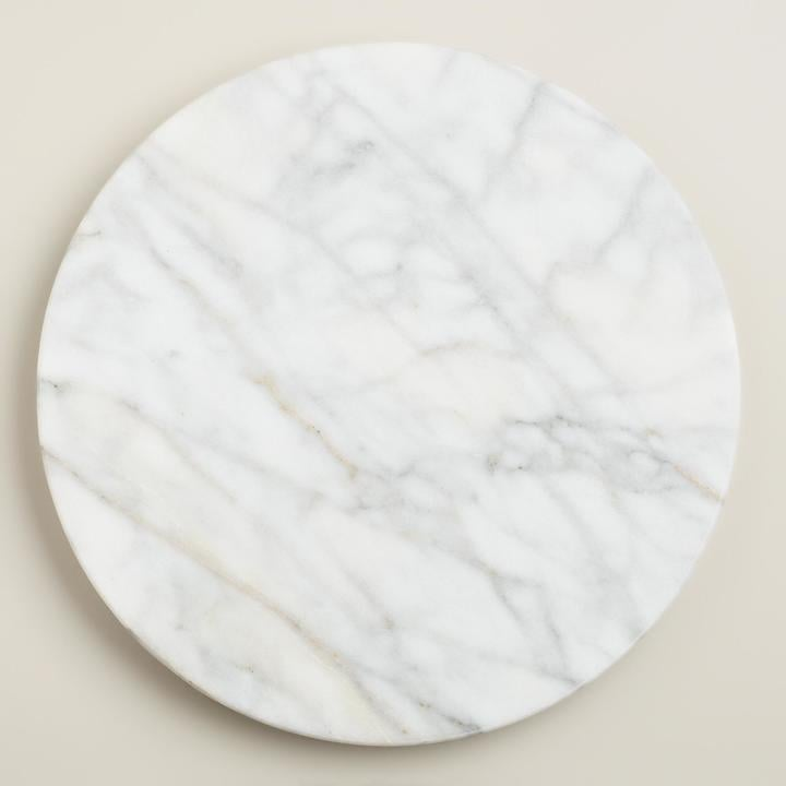Lazy Susan White Marble Lazy  Susan ($15)