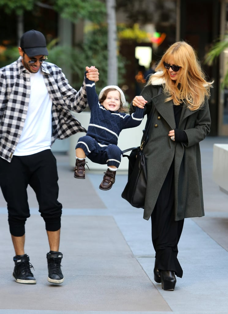 Rachel Zoe had Skyler Berman and her friend Joey Maalouf by her side yesterday as she shopped on LA's Robertson Boulevard. Rachel was seen playing with Skyler at Kitson, where he checked out toy cars and books. Later, as they strolled along the sidewalk, Joey and Rachel gave Skyler a playful swing in the air. Rachel has been spending the holiday season close to home as she gears up for the return of her series, The Rachel Zoe Project. Earlier this year, Bravo announced the reality show would be renewed for a fifth season, and it's expected to hit the airwaves in 2013.  Rachel might also be prepping for another busy award season. Her longtime clients Anne Hathaway, who is nominated for a Golden Globe for her Les Mis performance, and Jennifer Garner, whose husband Ben Affleck is racking up nods for Argo, are both likely to be fixtures on the red carpet this Winter.