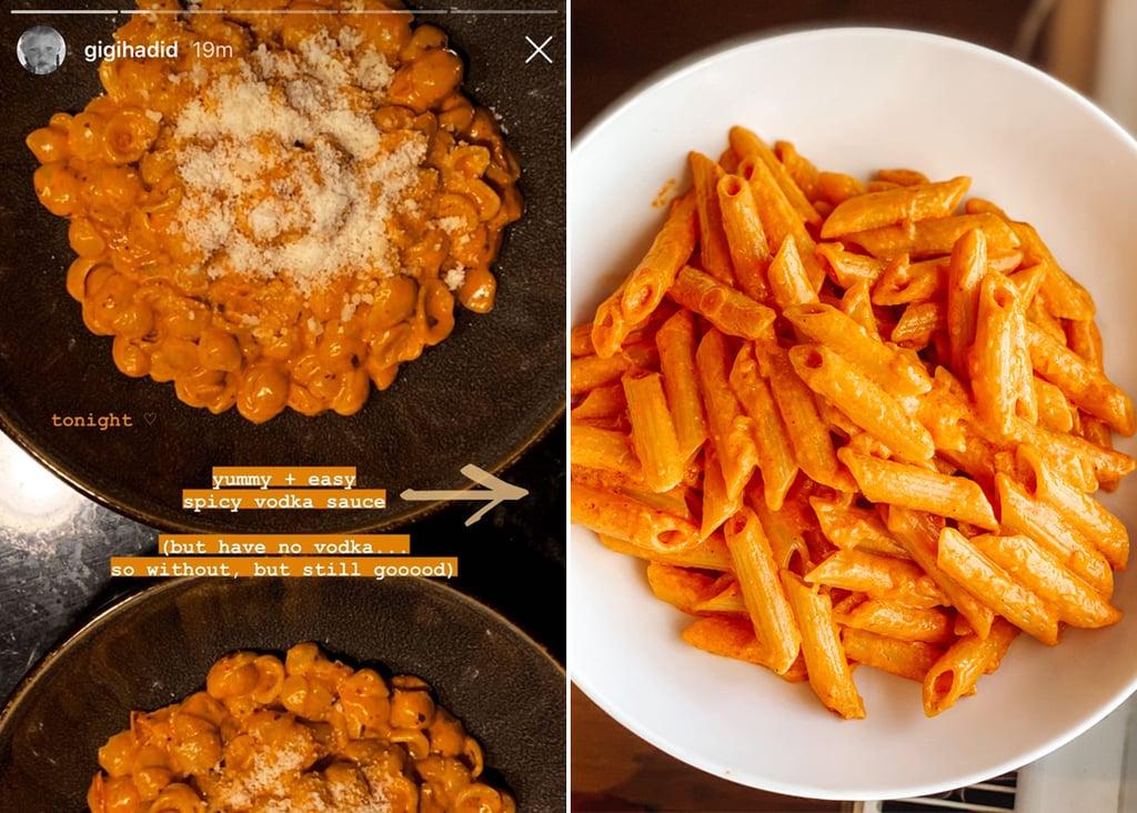 I Tried Gigi Hadid's Spicy Vodka Pasta Sauce Recipe