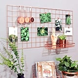 Simmer Stone Rose Gold Wall Grid