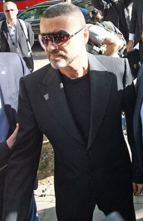 Pictures of George Michael At Court Where He Pleaded Guilty To Drug Driving and Cannabis Possession