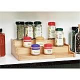 3 Tier Expandable Bamboo Spice Rack Step Shelf Cabinet Organizer            3 Tier Expandable Bamboo Spice Rack Step Shelf Cab