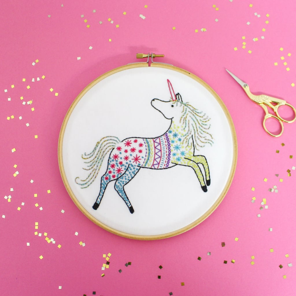 Unicorn embroidery hoops popsugar love sex