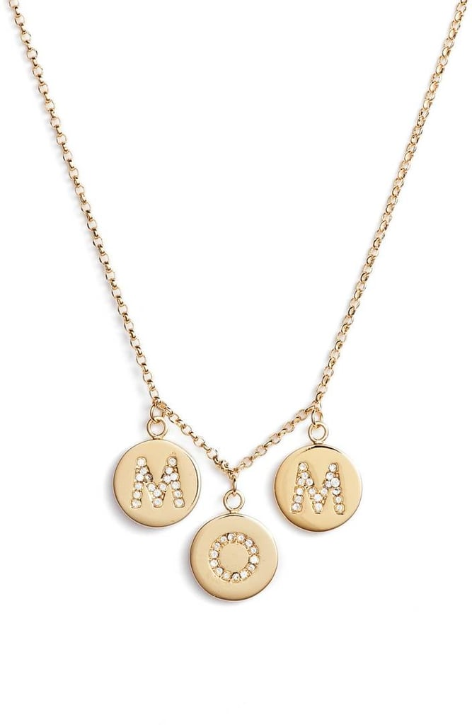 Kate Spade Mom Knows Best Pave Charm Necklace